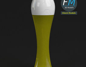 3D Glass with beer 1
