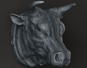 3D RH CIRCA 1900 CAST METAL BULLS HEAD
