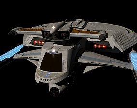 3D model Lilith Class Federation Starship