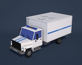 3D model Low Poly Police Truck