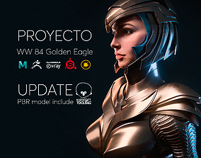Wonder Woman Golden Eagle - Gal Gadot 3D asset