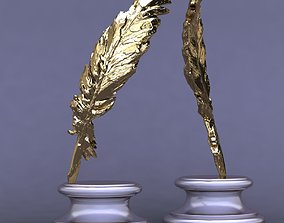 feather pen award 3D print model