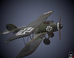 3D model Albatros DIII German world war 1 plane