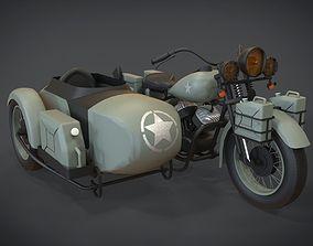 3D asset 1942 Harley Davidson WLA