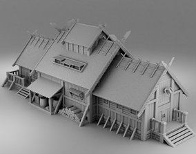 3D printable model House Viking farmer
