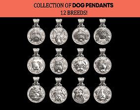 DOG PENDATS COLLECTION BEST FRIEND 12 BREEDS 3D