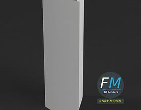 Trifold mockup half open 3D model