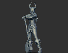 3D printable model Barbarian woman - Irmine 35mm scale
