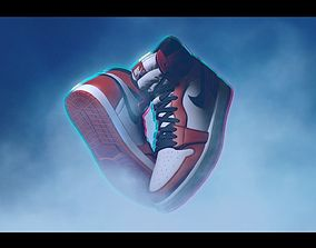 3D model Nike AirJordan One