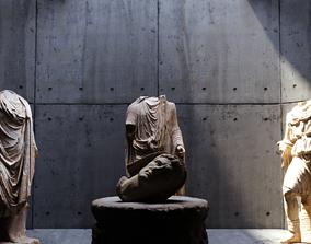 Roman Statues Scene 3D asset