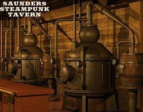 3D Saunders Steampunk Tavern