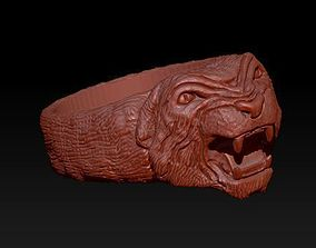 tiger ring 3D printable model panthere