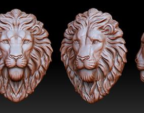 Lion head pendant 3D print model 3dprinting