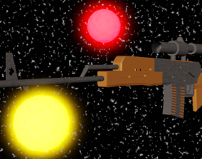 armyweapon 3D model sniper rifle