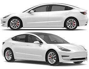 2018 Tesla Model 3 White Multi-Coat