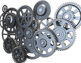 Gear mechanism set 3D model