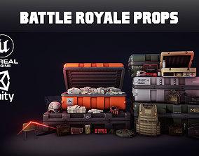 3D asset Battle Royale Props