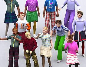 3DRT - Realpeople Kids Girls animated