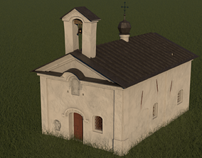3D model Small Orthodox Slavic Russian Church