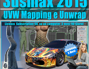 3ds max 2015 UVW Mapping e Unwrap 3 mesi mapping