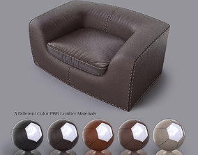 3D model Leather ArmChair furniture modern