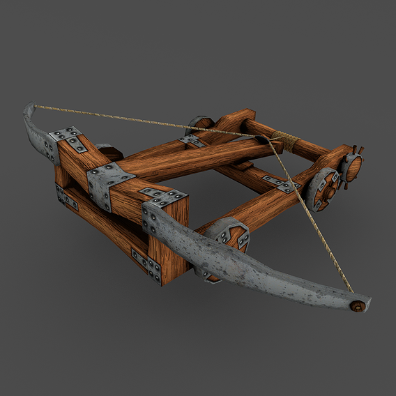 Ballista rigged Animation LowPoly