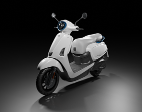 Electrical Motorcycle 3D