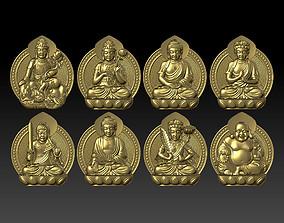 Eight buddhas 3D print model