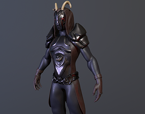 amored 3D model fantasy creature