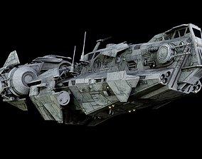 3D model Thranta-class corvette