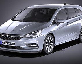 3D Opel Astra Sports Tourer 2017 VRAY