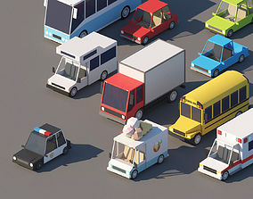 3D asset Cartoon Cars Pack