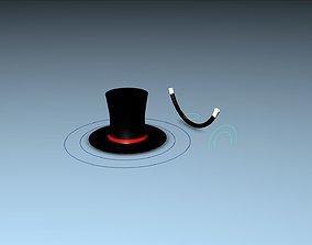 3D MAGIC HAT Rigged