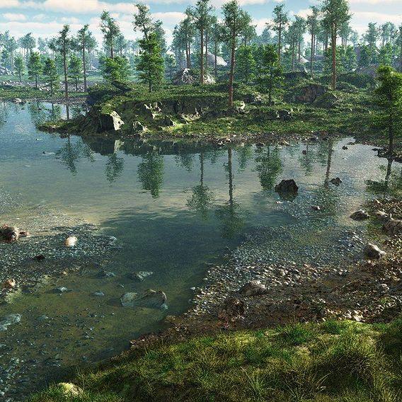 River bays in Vue