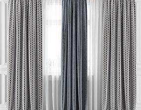 3D model Curtain Set 294C