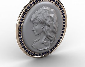 Cameo Brooche 001 3D print model relief