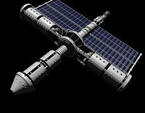 3D Near-Future Sci-Fi Spaceship