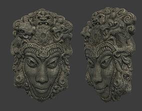 3D asset game-ready Mayan Tribal Mask 2