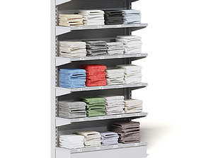 Market Shelf 3D Model - Towels