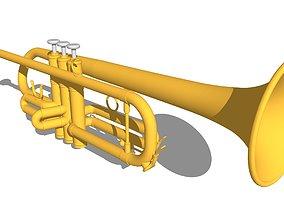 3D trumpet Horns - Trumpet