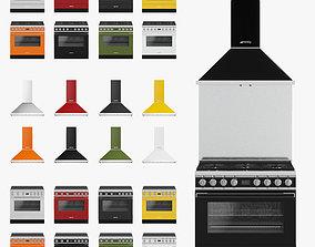 SMEG appliances 3D asset