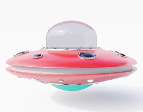 Low Poly UFO 3D asset