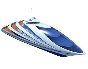 Futuristic Luxury Yacht 3 3D