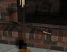 3D model 4 Pc Fireplace tool set