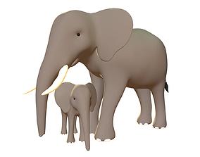 Elephant Pack - Stylized 3D asset