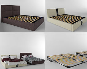 3D model Modern beds and cloth