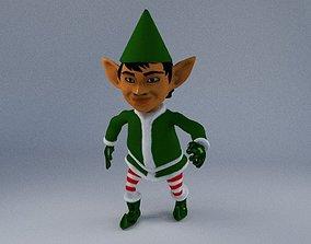 rigged Elf 3d blender rigged
