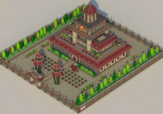 Fairy Tail Guild Buliding - Isometric
