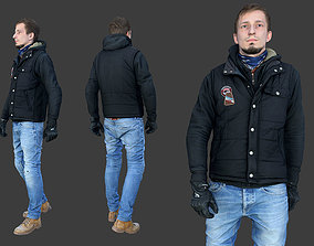 Casual Man in Vest 3D asset