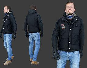 Casual Man in Vest 3D asset